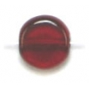 Glass Bead Flat 6mm Garnet - Strung